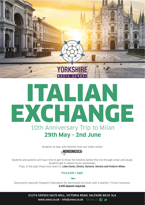 Italian Exchange. 10th Anniversary Trip to Molan. 29th May - 2nd June.
